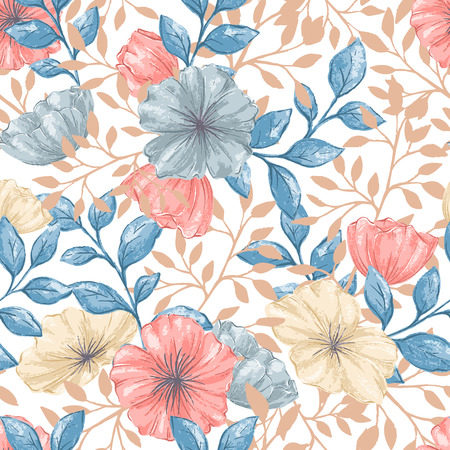 A Seamless Retro pattern on plain background.