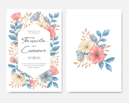 Wedding invitation card on plain background royalty free cliparts vector wedding invitation card on plain background stopboris Images