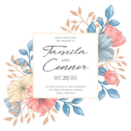 Wedding invitation card on plain background royalty free cliparts 91414738 wedding invitation card on plain background stopboris Images