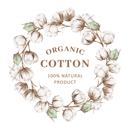 Wreath with cotton
