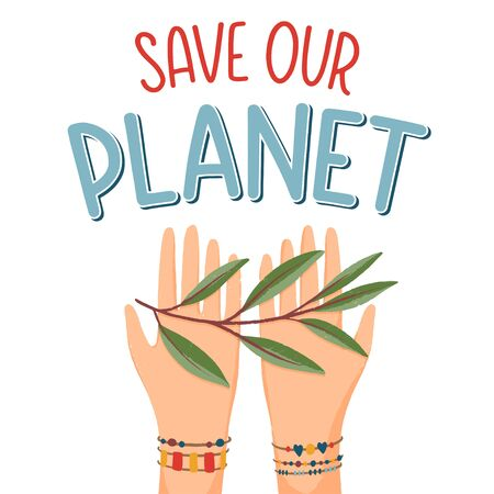 Save our planet concept Illusztráció