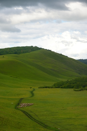 mongolia: Inner Mongolia EerguNa City Linjiang Village Stock Photo