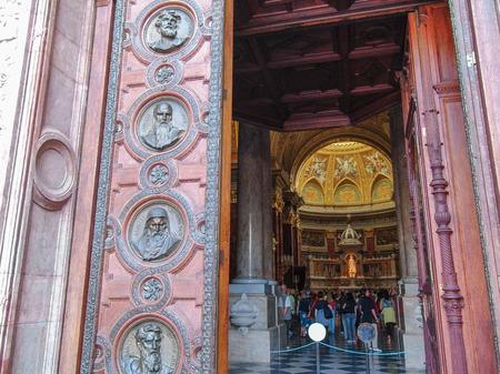 bas relief: Door of the basilica of St. Stephen