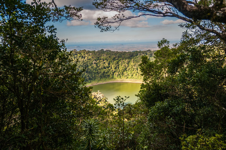 Lake in Amber Mountain National Park, in the Diana Region of northern Madagascar. Stock Photo