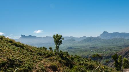 Landscape of the island of Santiago in Cape Verde