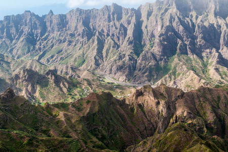 Volcanic mountains on Santo Ant?o, the northernmost and westernmost island of Cape Verde.