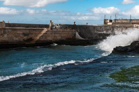Port of Ponta do Sol in Santo Antao, Cape Verde Stock Photo