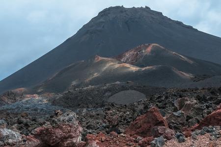 Volcanic landscape and peak Fogo, Fogo Island, Cape Verde