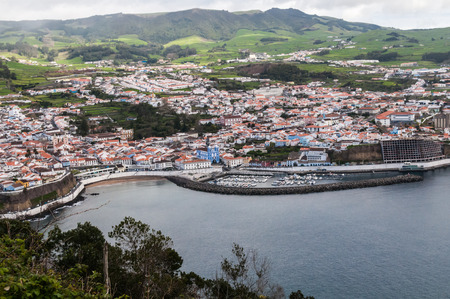 oc: Angra do Heroismo View from the Monte do Brasil, Terceira, Azores, Portugal.