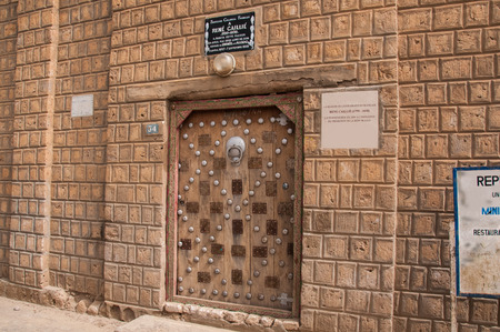 back gate: Gate House Ren? Caillie first European traveler who made it to Timbuktu and back alive to tell the tale. Mali.