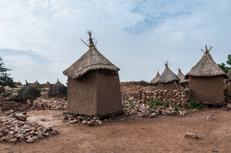 Typical housing Dogon in Begnimatou , Mali. photo