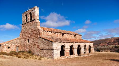 hermitage: Hermitage of Santa Maria of Tiermes, Romanesque Catholic church. Soria, Spain.