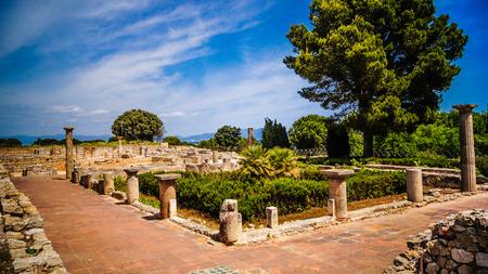 Greco-Roman archeologiczne Ampurias (Empuries) w Zatoce Roses, Katalonia, Hiszpania.