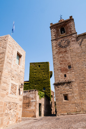 declared: Old Town of Caceres declared a World Heritage Site by UNESCO in 1986, Extremadura, Spain.