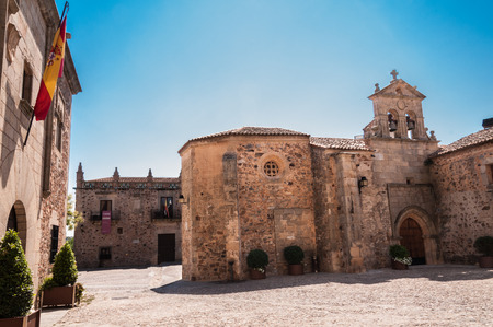unesco: Old Town of Caceres declared a World Heritage Site by UNESCO in 1986, Extremadura, Spain.
