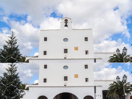josep: Church of Sant Josep de sa Talaia municipality located in the southeast of the island of Ibiza Spain Stock Photo