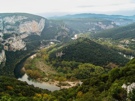 gorges: The gorges of Ardeche are a real canyon excavated thirty kilometers on the plateau of limestone