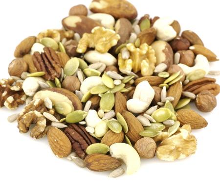 semillas de girasol: Mezcla de frutos secos y semillas  Foto de archivo