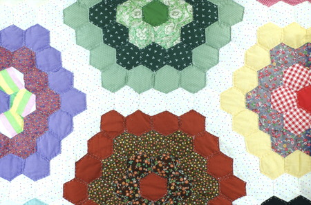 patchwork pattern: Handmade patchwork quilt