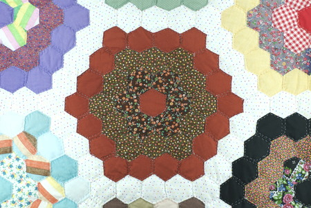 bedspread: Handmade patchwork quilt