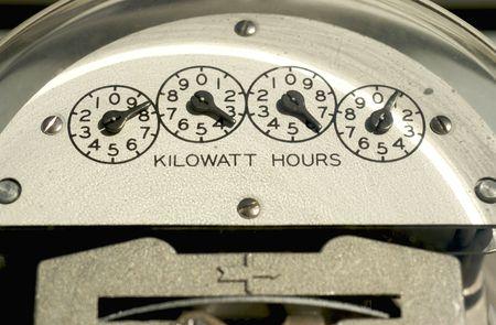 contador electrico: Electric Meter close-up  Foto de archivo