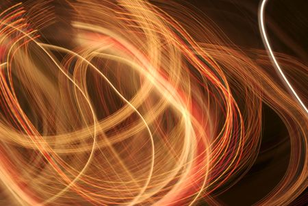 Abstract image of swirls of colored lights. Unique one-of-a-kind abstract image. Stok Fotoğraf