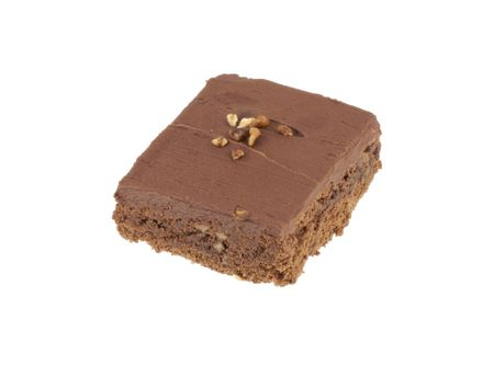 Image of brownie isolated on white back ground. Stock Photo - 2264549