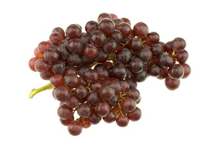Bunch of red seedless grapes isolated on white background. 版權商用圖片