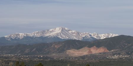 Pikes Peak at Colorado Springs Colorado