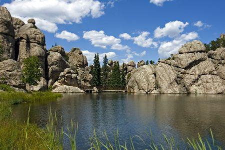 sylvan: Image of Sylvan Lake taken in Custer State Park South Dakota. Stock Photo