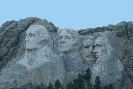 'mt rushmore': Image of Mt Rushmore taken at dusk.