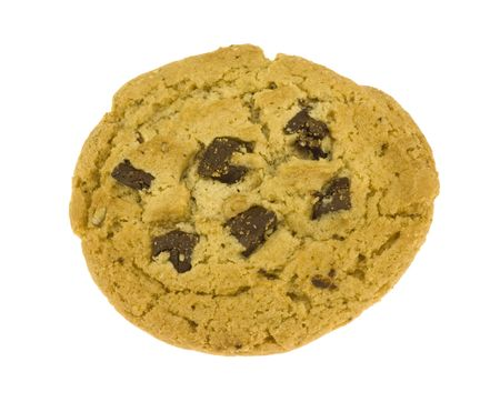 Image of chocolate pecan cookie isolated on white back ground.