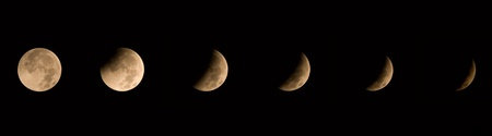 solstizio: Image showing seven stages of the winter solstice lunar eclipse of 12212010. Archivio Fotografico