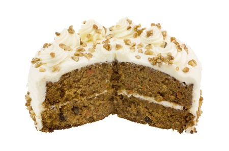 carrot cake: Image of carrot cake isolated on white back ground.
