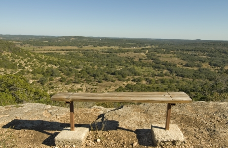Wide angle view of Hill County State Natural Area, Bandera Texas.