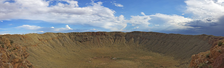 Panoramic view of Meteor Crater Winslow, AZ.