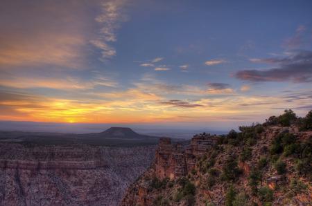 south rim: Panoramic view of Grand Canyon South Rim at Sunrise.