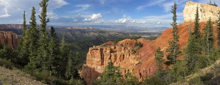 Panoramic View of Black Birch Canyon, Bryce Canyon National Park, Utah.