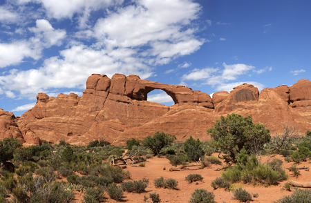 moab: Skyline Arch in Arches National Park, Utah USA.