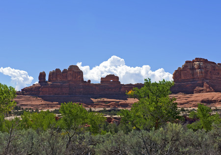 squaw: Wooden Shoe Arch, Squaw Canyon Needles District, Canyonlands National Park, Utah USA.