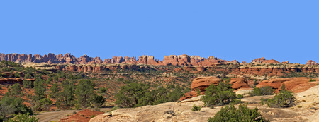 canyonland: Panoramic View of the Needles District of Canyonlands National Park, Utah.