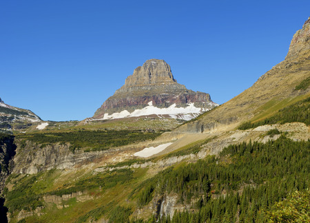 reynolds: Reynolds Mountain at Logan Pass in Glacier National Park, Montana