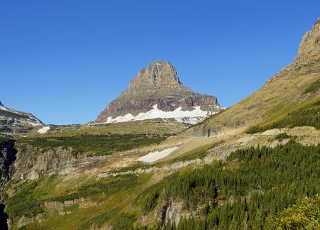 reynolds: Reynolds Mountain at Logan Pass in Glacier National Park, Montana
