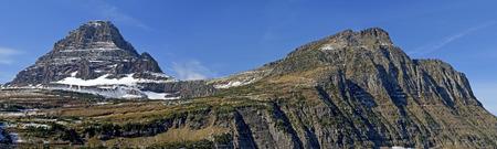 reynolds: Reynolds Mountain and Mt Oberlin in Glacier National Park, Montana.
