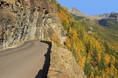 Glacier National Park: Going-to-the-Sun-Road Fall Colors, Glacier National Park, Montana.