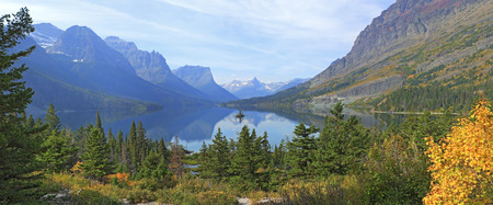 Glacier National Park: Wild Goose Island and St. Mary Lake, Glacier National Park, Montana.