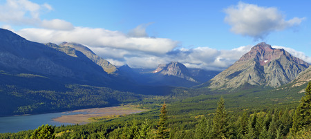 Glacier National Park: Lake Sherburne Glacier National Park Early Morning, Montana USA. Stock Photo