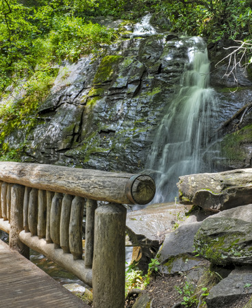 great smoky mountains national park: Juney Whank Falls in the Deep Creek Area of the Great Smoky Mountains National Park, North Carolina.