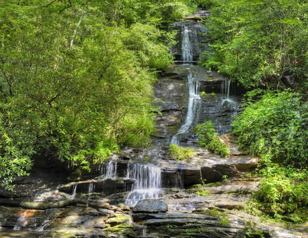 great smoky national park: Tom Branch Falls in the Deep Creek Area of the Great Smoky Mountains National Park, North Carolina.