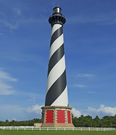 hatteras: Cape Hatteras Lighthouse in the Outer Banks of North Carolina.  Owned and operated by the National Park Service.  Public Property and therefore no property release required.